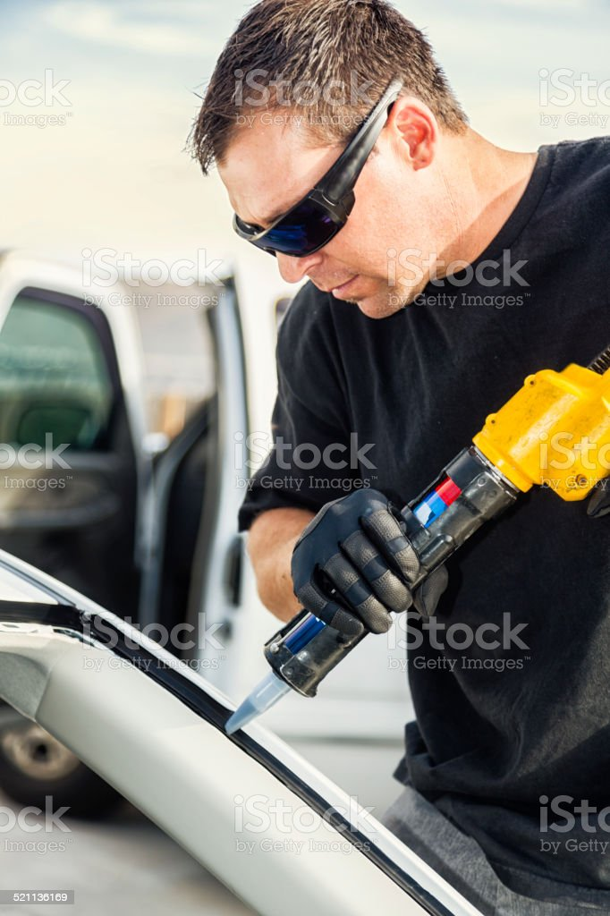 Car WIndshield Replacement stock photo