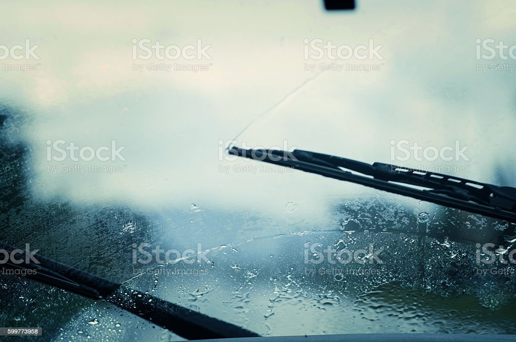 Car windshield wipers. stock photo