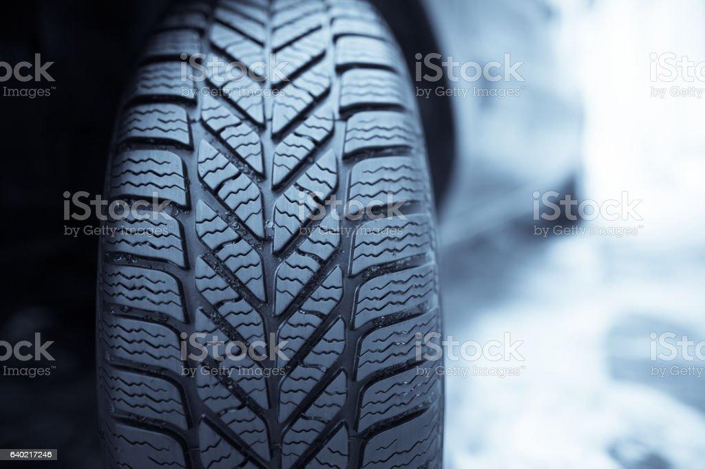 Car winter tire stock photo