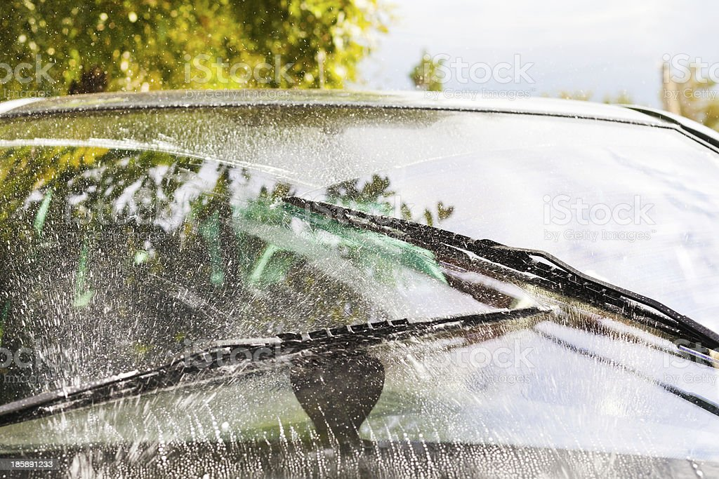 car wipers wash windshield royalty-free stock photo