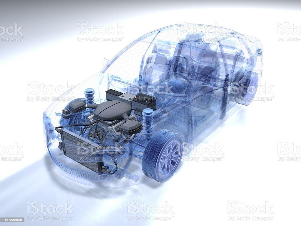 Car Wireframe royalty-free stock photo