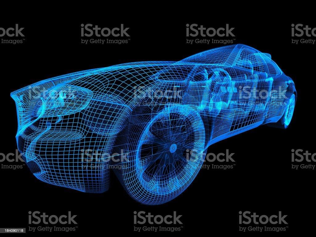Car Wireframe stock photo