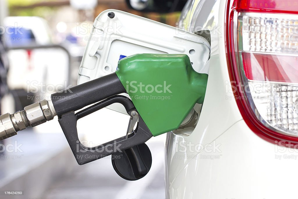 Car With A Gas Pump. stock photo