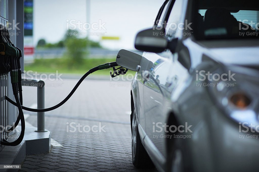 Car With A Gas Pump stock photo
