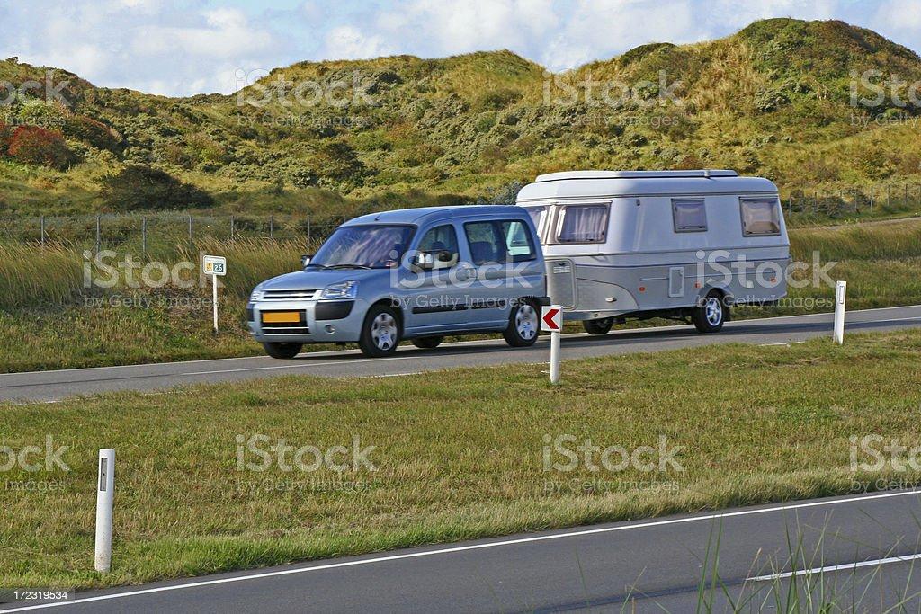 Car with caravan # 14 royalty-free stock photo