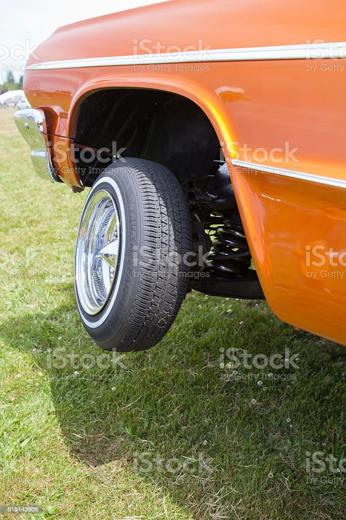 Car With Hydraulics stock photo