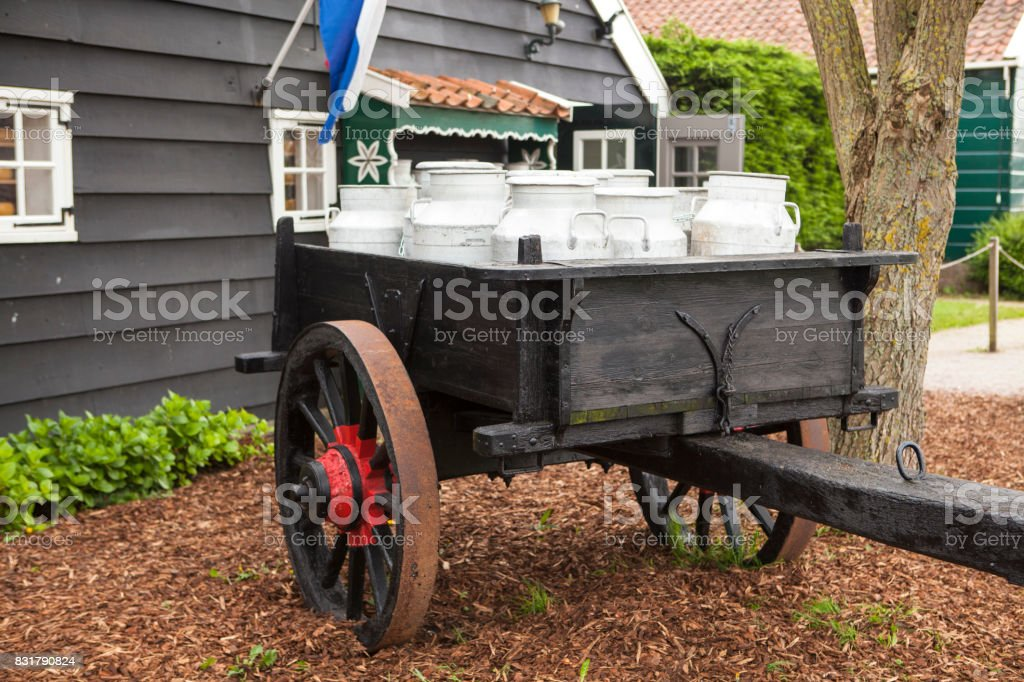 Car with milk stock photo