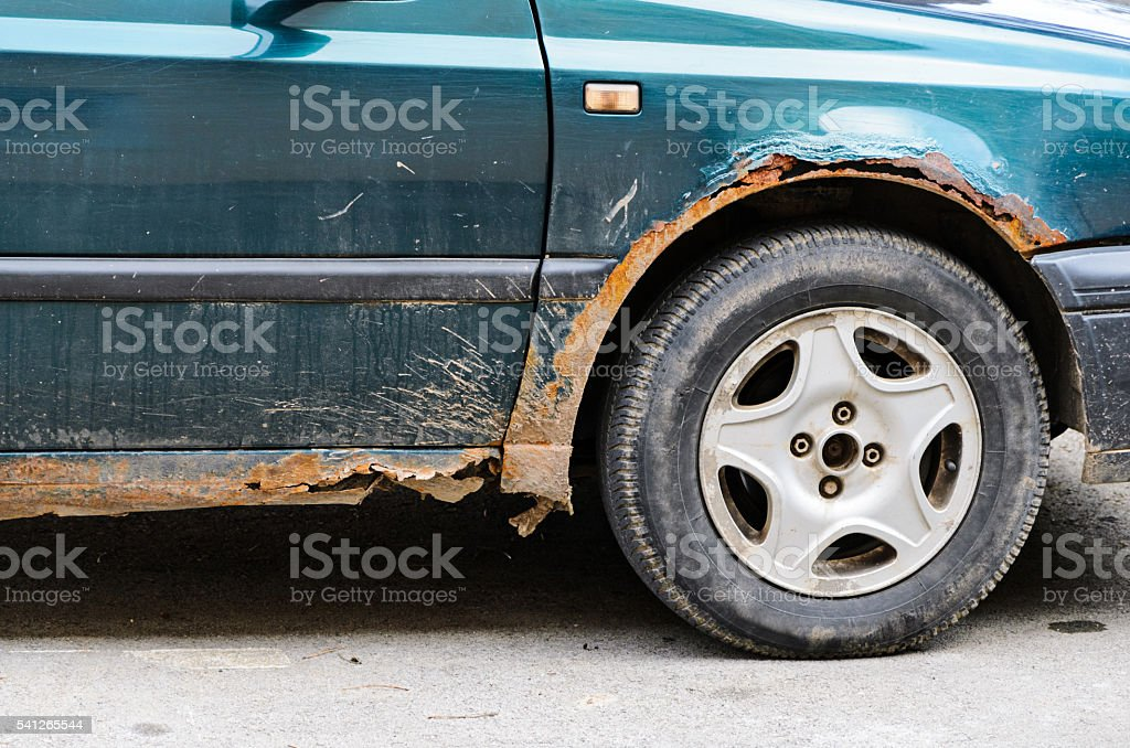 Car with Rust and Corrosion stock photo