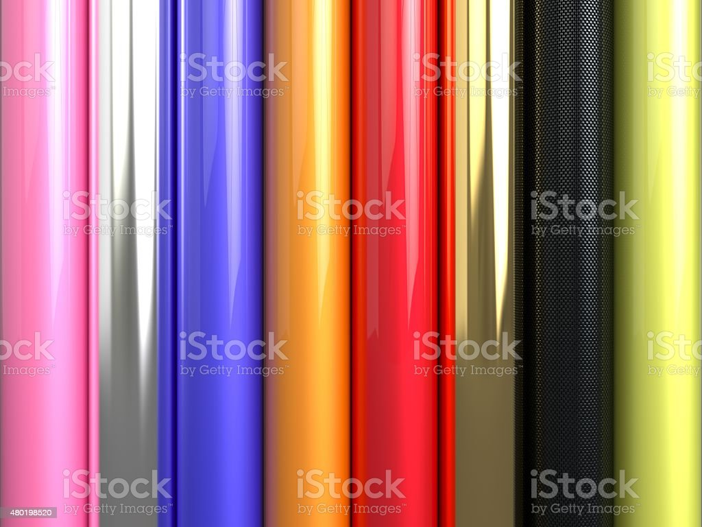 Car wrapping film roll stock photo