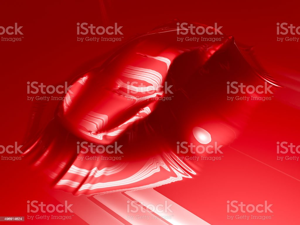 Car wrapping process stock photo