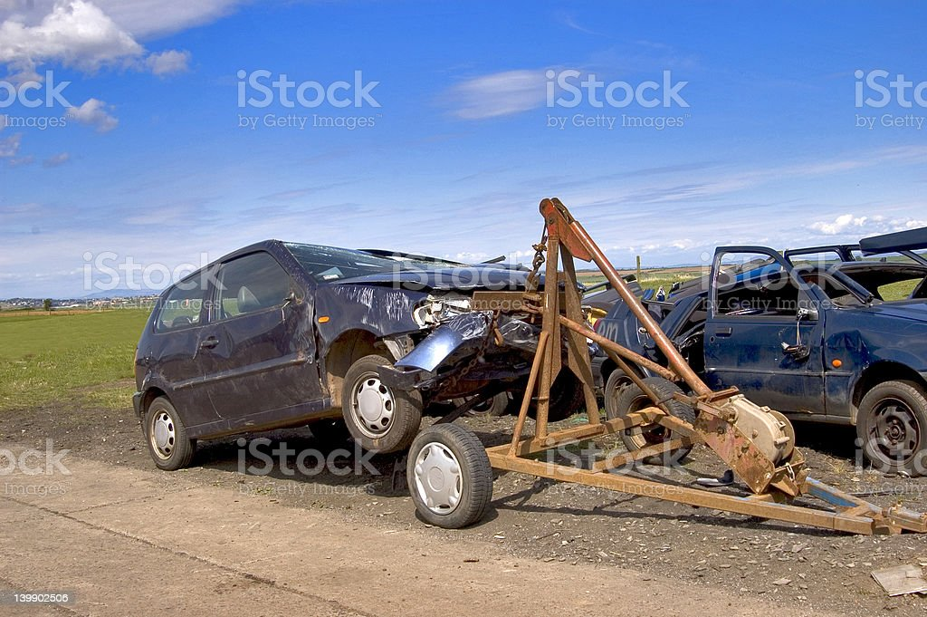 Car wreck 1 royalty-free stock photo