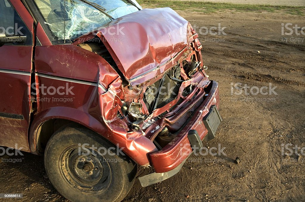 Car Wreck 1 royalty-free stock photo