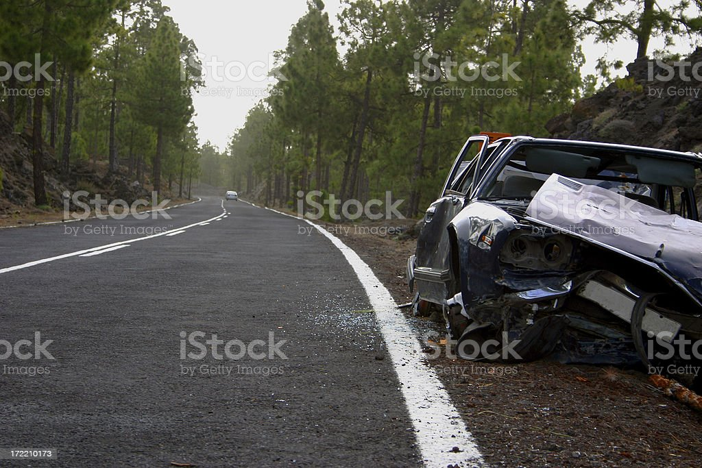 Car wreck 2 royalty-free stock photo