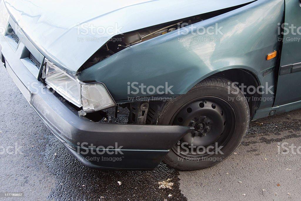 car wreck detail royalty-free stock photo