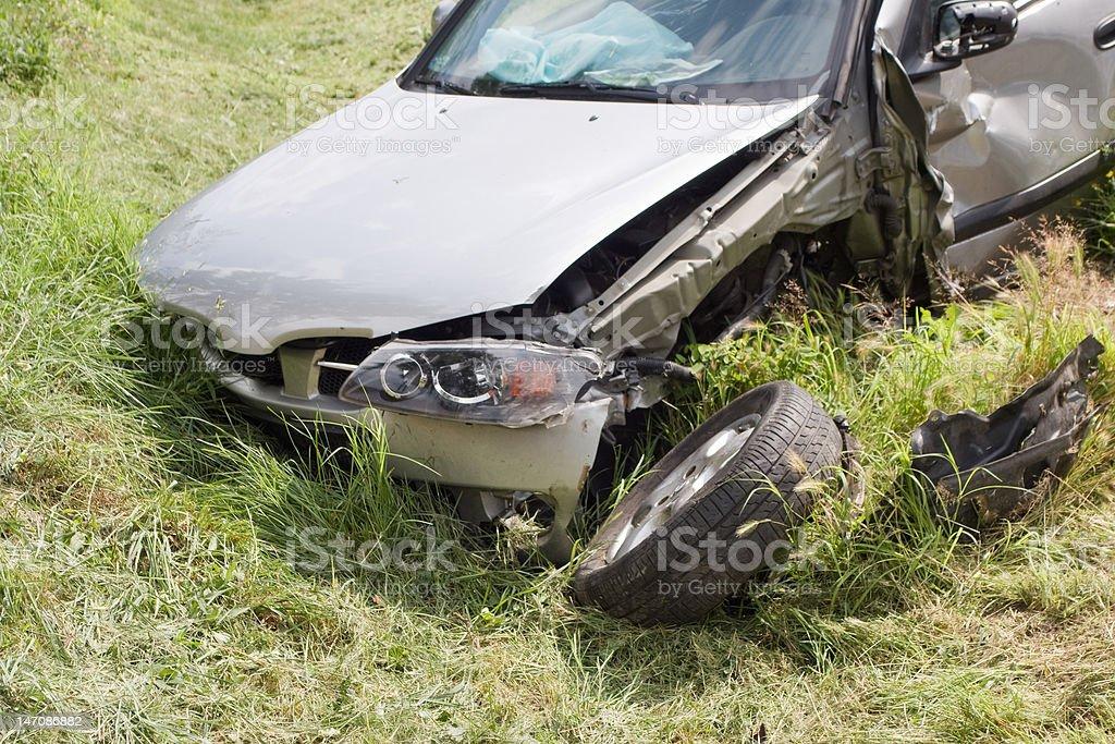 car wreck royalty-free stock photo