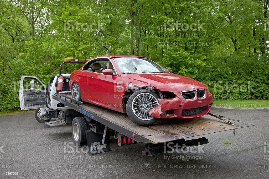 BMW Car Wreck royalty-free stock photo
