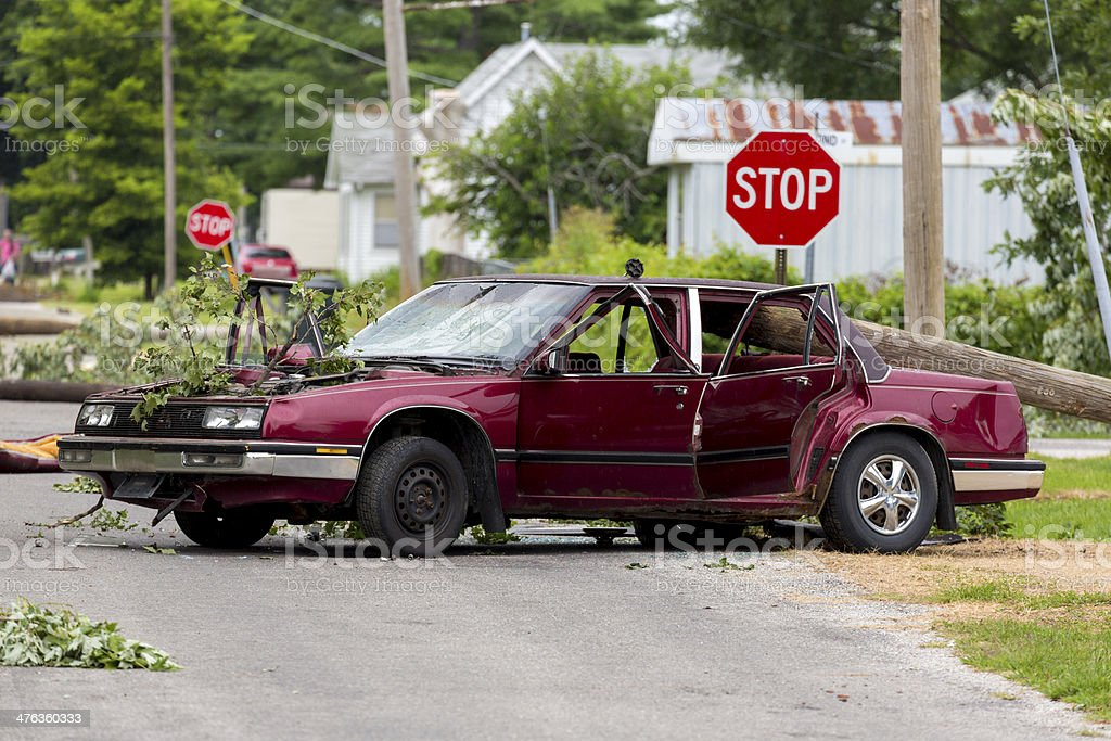 Car Wreckage royalty-free stock photo