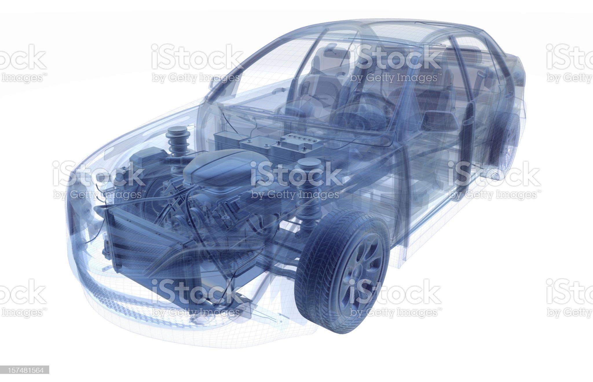 Car X-RAY royalty-free stock photo