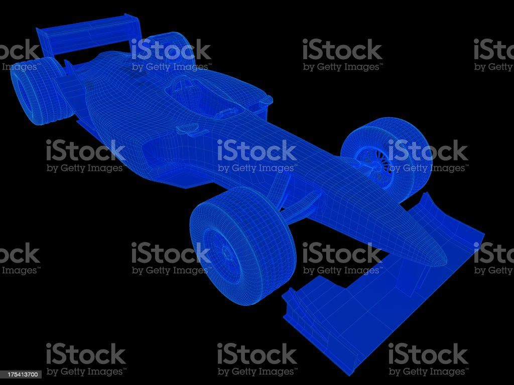 F1 Car X-ray royalty-free stock photo