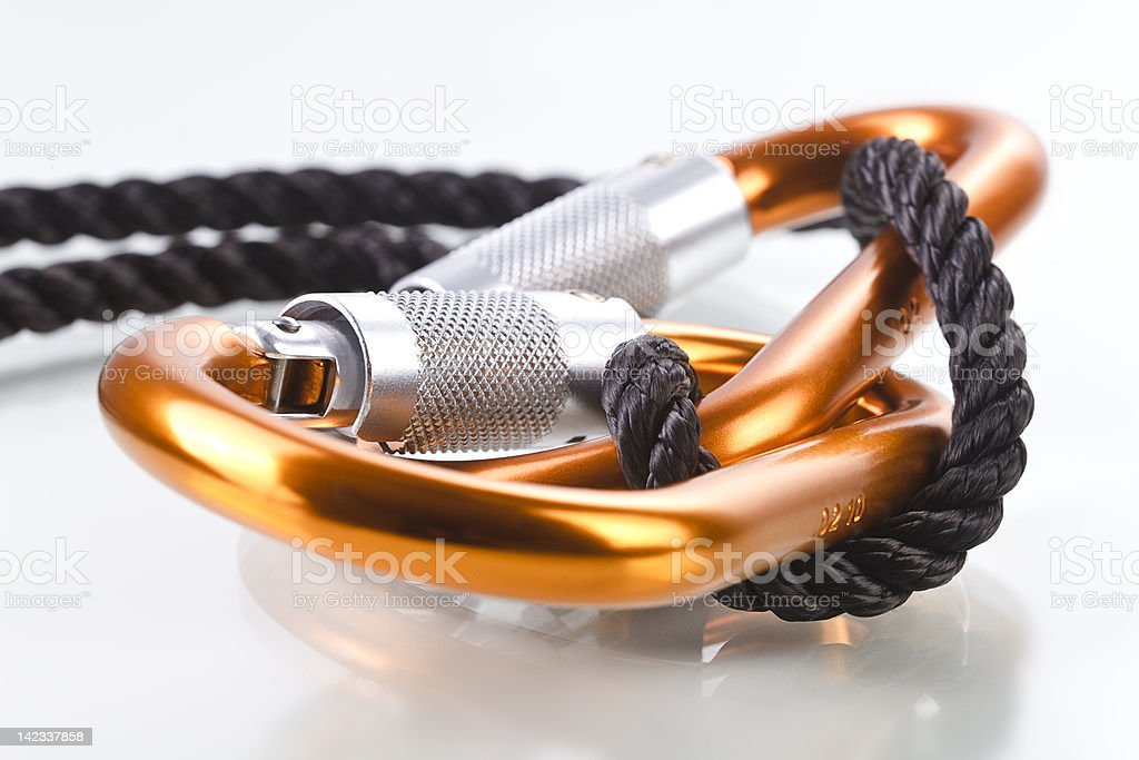 Karabiner - Seil 2 royalty-free stock photo