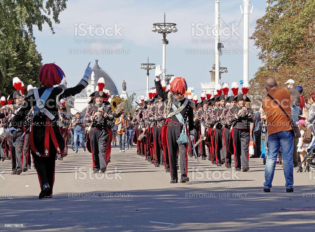 Carabinieri Corps Band, Italy stock photo