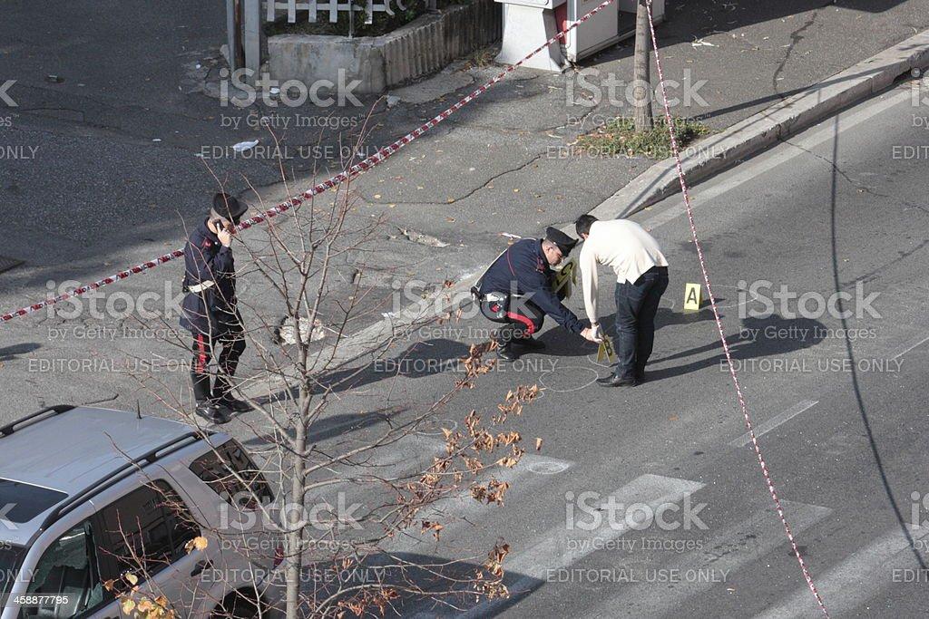 Carabinieri in investigation royalty-free stock photo