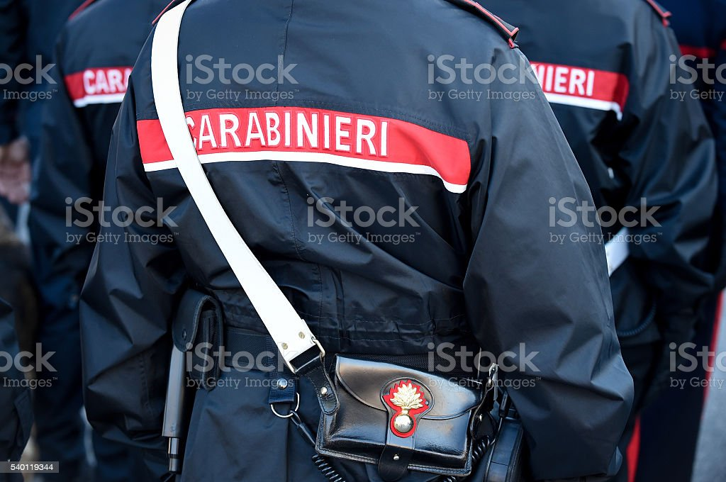 Carabinieri stock photo