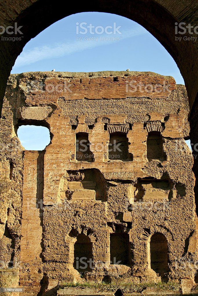 Caracalla Baths in Rome royalty-free stock photo