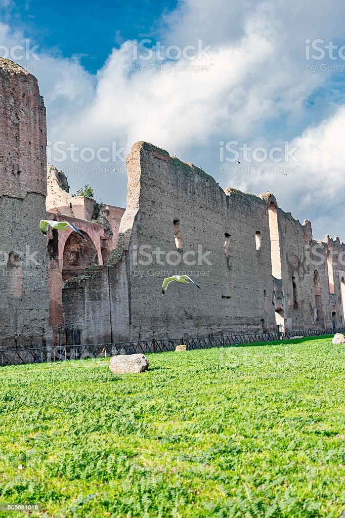 Caracalla's thermal baths stock photo
