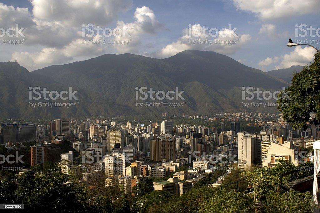 Caracas a los pies del Avila royalty-free stock photo