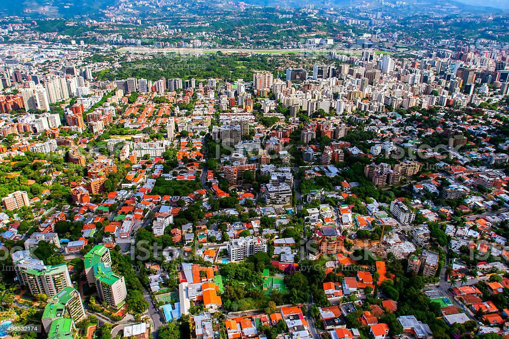Caracas City - Aerial View stock photo