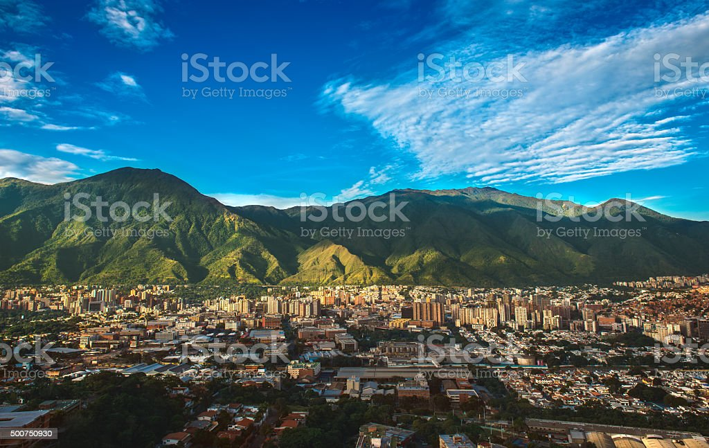 Caracas, Venezuela - Cityscape on a Sunny Afternoon stock photo