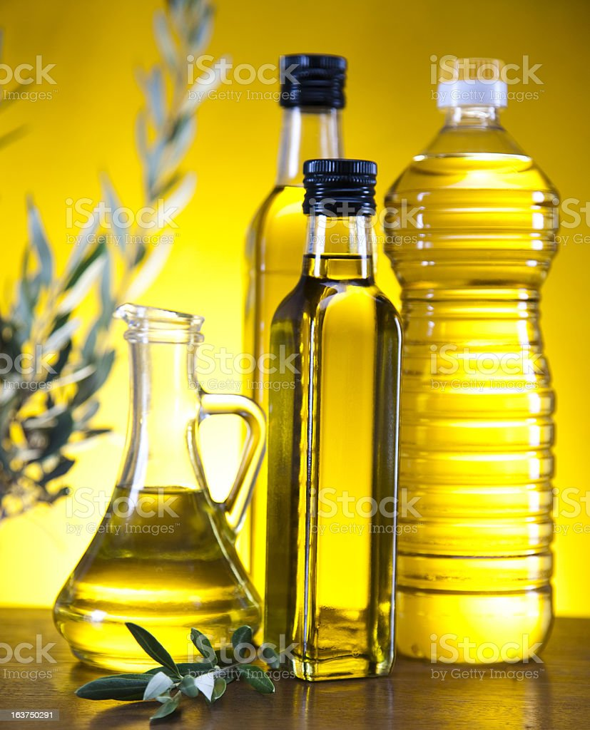 Carafe with olive oil royalty-free stock photo