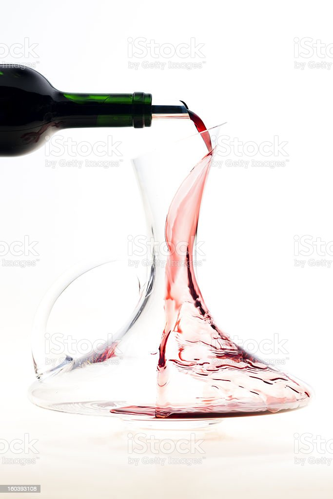 carafe with red wine royalty-free stock photo