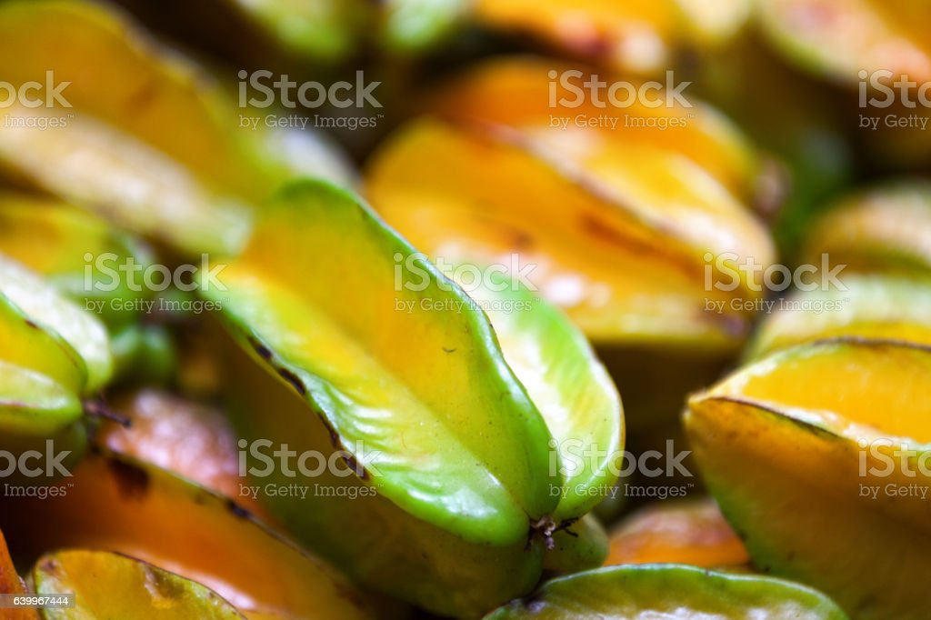 Carambola background stock photo
