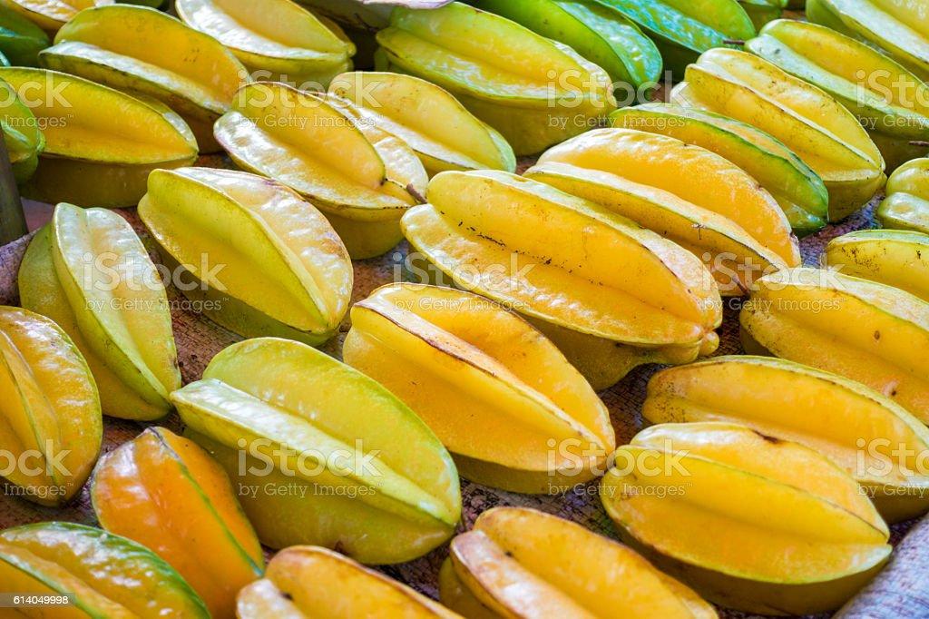 Carambola or Starfruit on sale stock photo