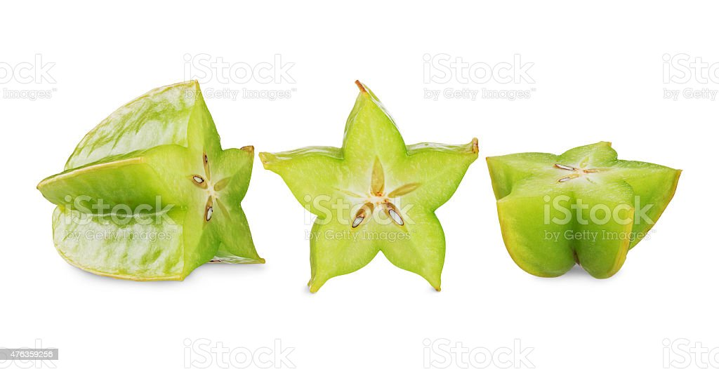 carambola star fruit stock photo