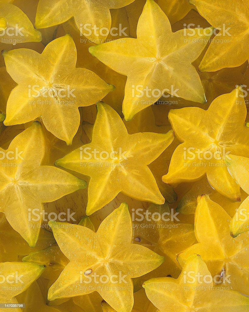 Carambola Starfruit stock photo