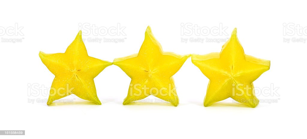 carambola stars on the white background royalty-free stock photo