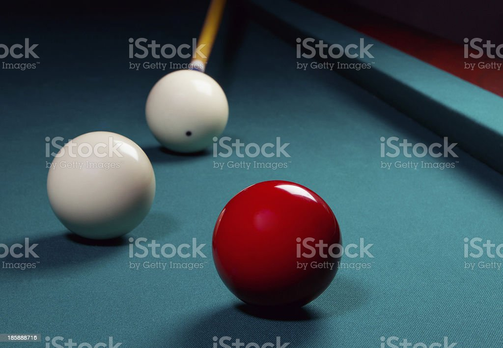 Carambole billiard stock photo