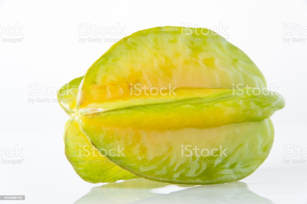 Carambole on white background stock photo