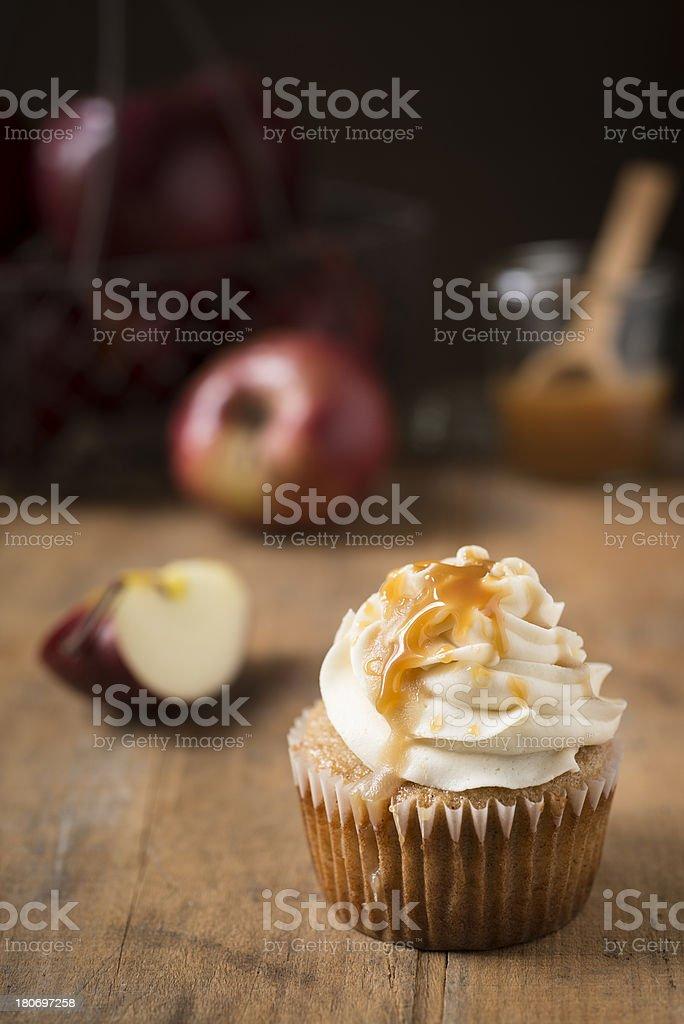 Caramel Apple Cupcake Vertical stock photo