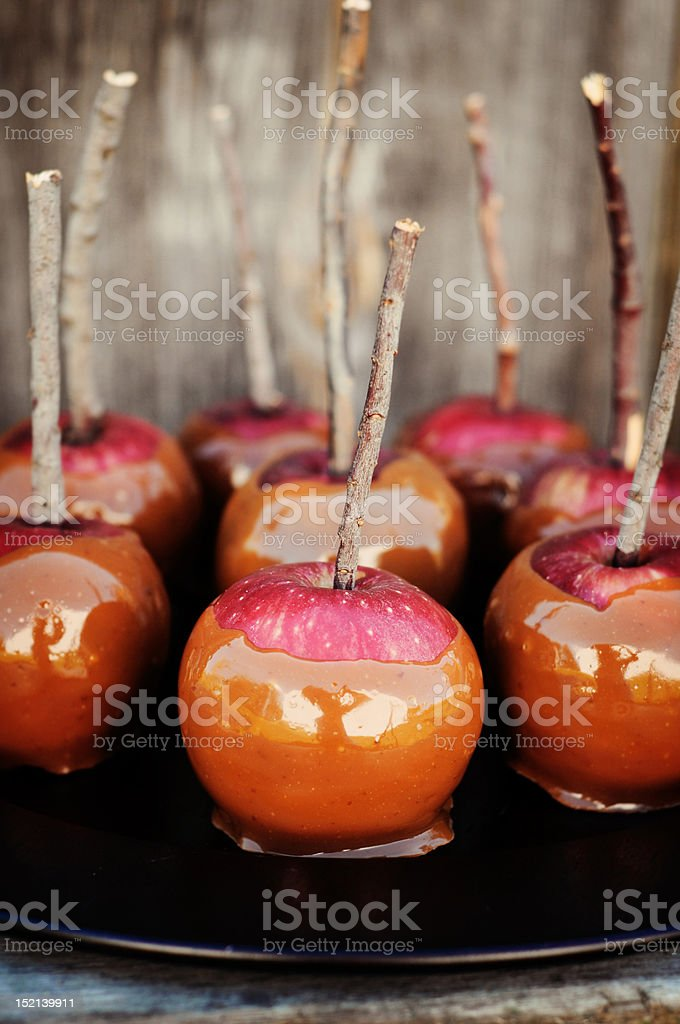 Caramel Apples stock photo