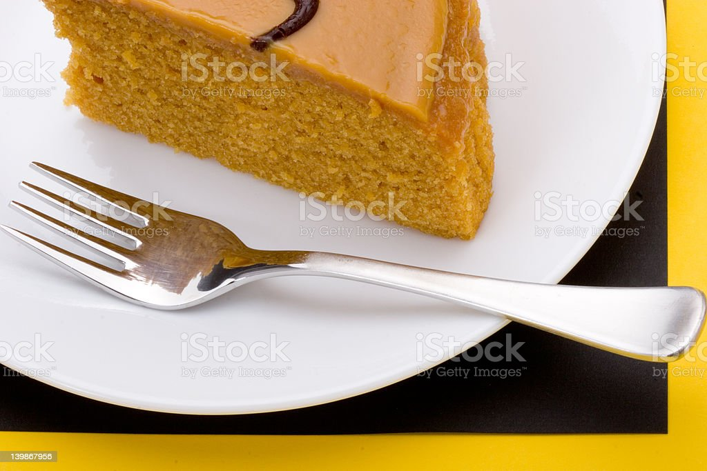 Caramel cake stock photo