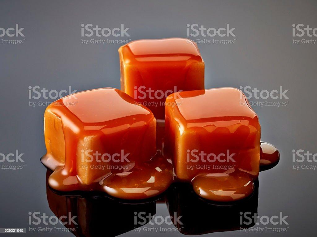 caramel candies stock photo