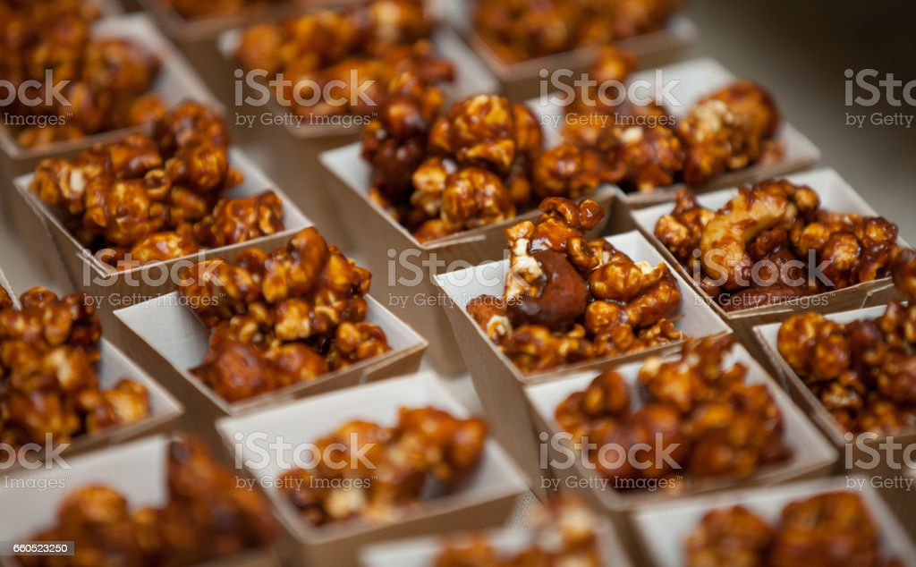 Caramel Candy Popcorn stock photo