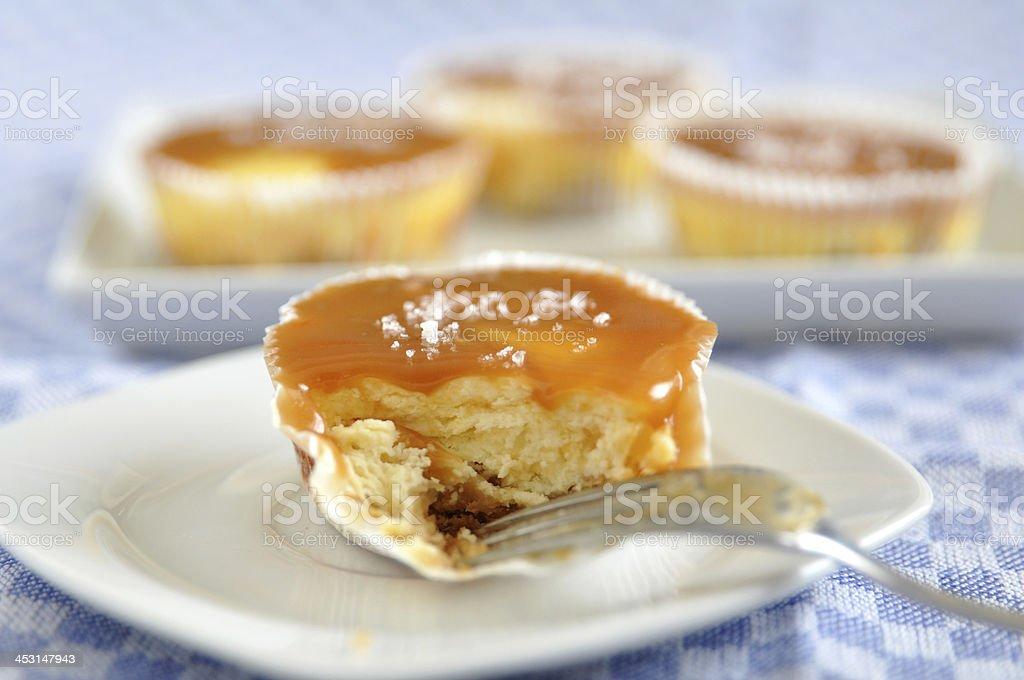 Caramel Cheesecake with fleur de sel royalty-free stock photo