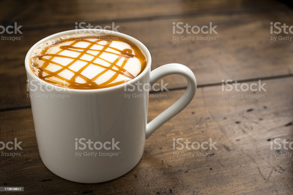 Caramel Coffee stock photo