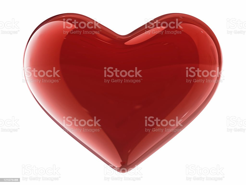 Caramel heart stock photo