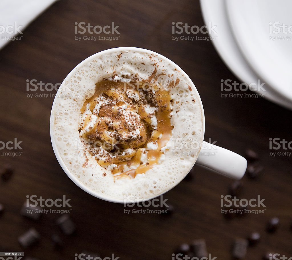 Caramel Macchiato Bliss royalty-free stock photo